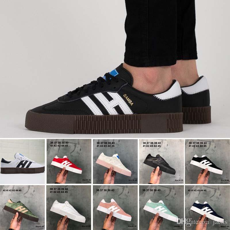 low priced 9e5b5 d0e70 New Samba Rose Men Women Casual Shoes For White Black Red Pink Blue Green  Oreo Lightweight Student Shoes Eur36 45 Wholesale Shoes Cool Shoes From  Jaens, ...