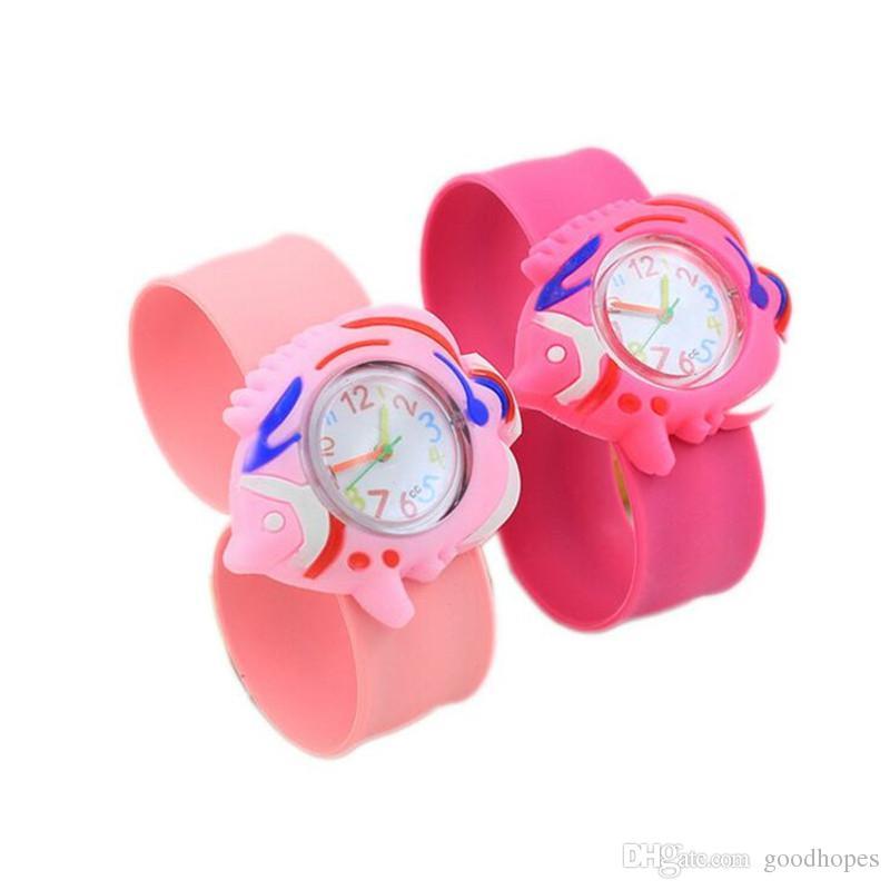 Watches New Style Lovely Cartoon Print Quartz Kids Watch With Braid Band Waterproof Wristwatch For Children Boys Girls 3~10 Years