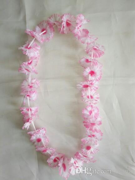 Fashion Hot Party Supplies Seda Hawaiian Flower Lei Garland Hawaii Guirnalda Cheerleading Productos Hawaii Collar