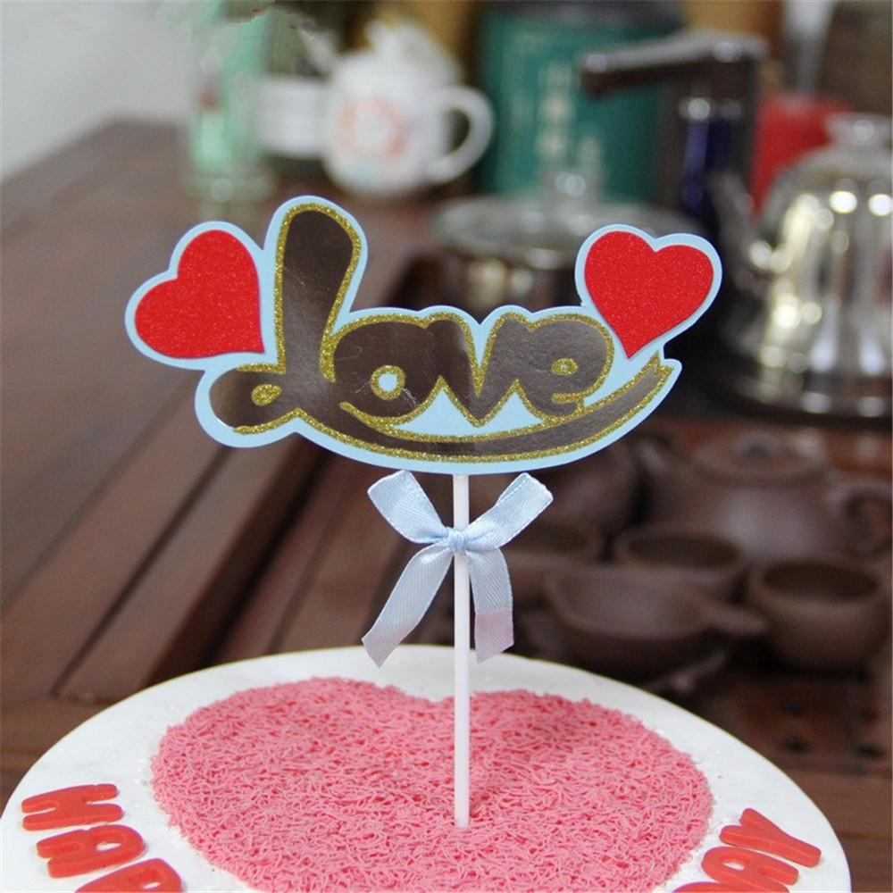 2019 Crley Happy Birthday Cake Decorating Toppers Love Heart Rainbow