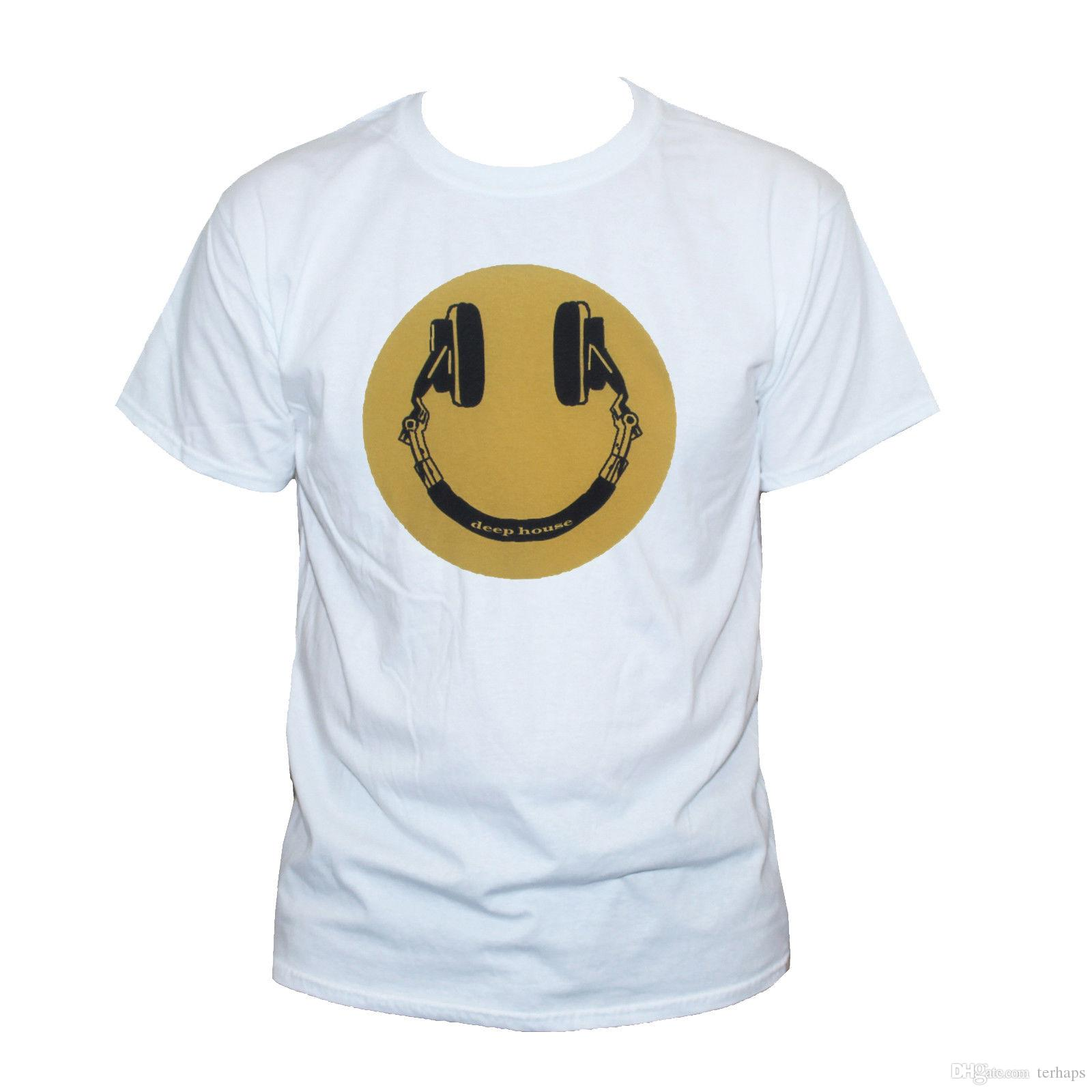 Deep House Music T SHIRT Techno Party Top tee Face Retro Graphic Printed  Cool Tee