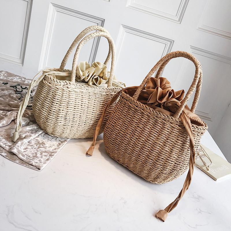 Straw Handbag Rattan Clear Beach Bags For Women 2018 Hand Bag Handbags  Retro Straw Woven Bagpack Holiday Beach Woven Basket Bag Wholesale Bags  Discount ... ee153f02ff1dd
