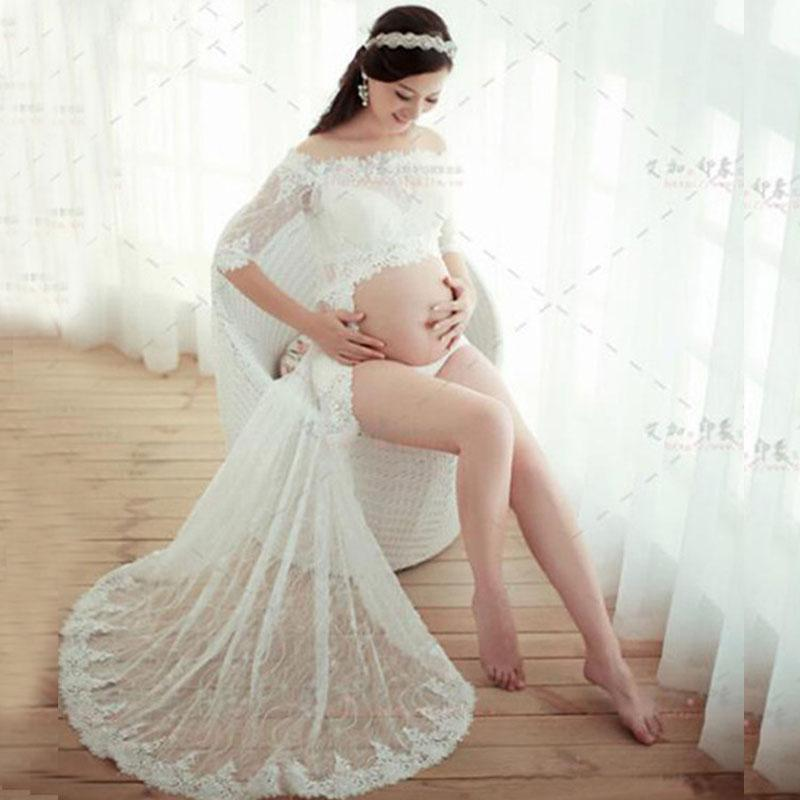 ccf8978c03e 2019 White Lace Maternity Photography Props Pregnancy Dresses Maternity  Dresses For Photo Shoot Clothes For Pregnant Women Vestidos From Paradise02