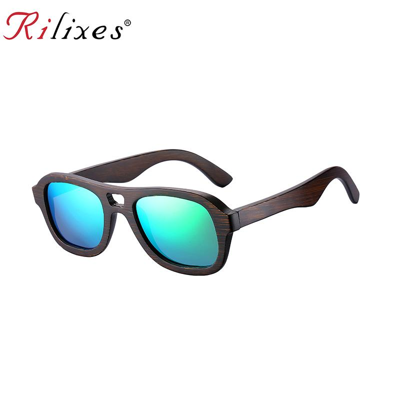 889d8cae806 RILIXES 2018 Bamboo Wood Polarized Sunglasses Women Men Brand Designer  Sunglass Sport Goggles Sun Glasses Oculos De Sol Cheap Sunglasses Mens  Sunglasses ...