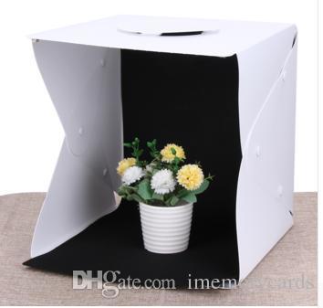 2018 뜨거운 판매 휴대용 미니 사진 스튜디오 상자 사진 배경으로 내장 된 라이트 포토 박스 사진 배경 박스 라이트 박스