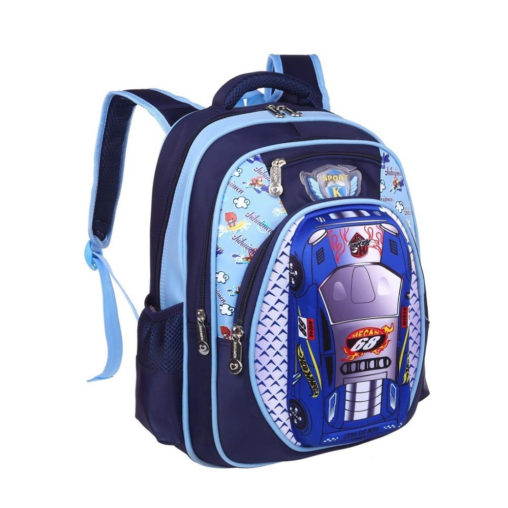 00099dfa663f 3D Cartoon Big Capacity Russia Style Orthopedic School Bags For Boys Car  Ultralight Waterproof Backpack Child Kids School Bag Cheap Backpacks  Rolling ...