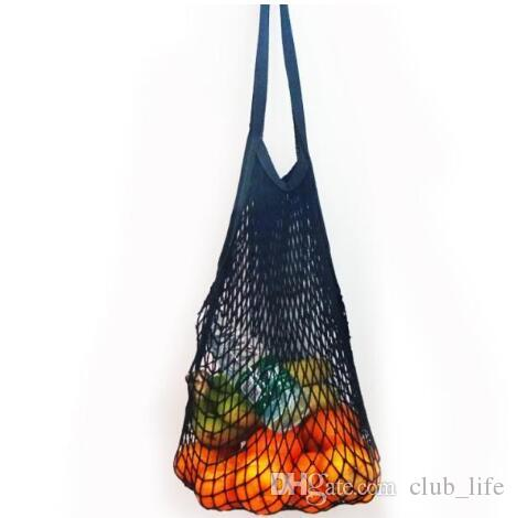 Multifuction Fruits Vegetable Foldable Shopping Bag String Cotton Mesh Pouch For Sundries Juice Storage Bags SD5746