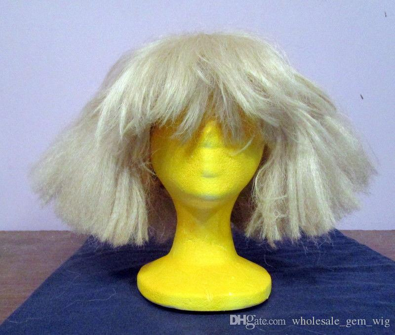 Lady GaGa Sia Wig....Blonde Drag Costume Wig. Halloween Cap Wigs Cap Wig  From Wholesale gem wig 5046e96324e7