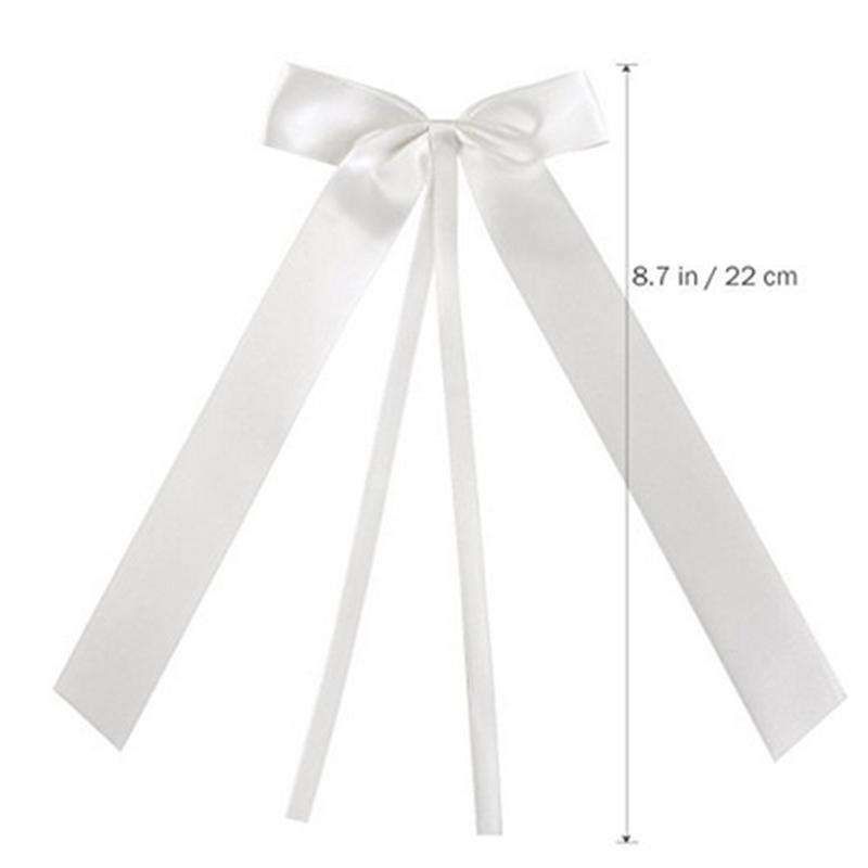 50 adet / paket Narin Düğün Pew End dekorasyon Bowknots Şerit Yaylar Parti Arabalar Sandalyeler Dekorasyon Bowknots GI894808
