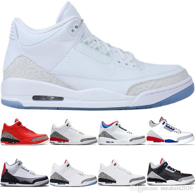 official photos 36ed8 affd3 Nike Air Jordan 3 3s Retro Hombre Zapatos De Baloncesto Katrina Tinker JTH  NRG Negro Cement Free Throw Line Corea Blanco Puro Diseñador Trainer  Athletic ...