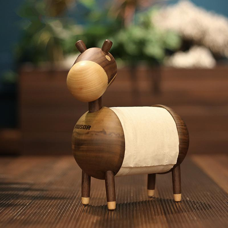 DIY Creative Wood Tissue Box Toilet Roll Paper Holder Storage Rack Nordic  Kitchen Organizer Tools Home Decoration Accessories