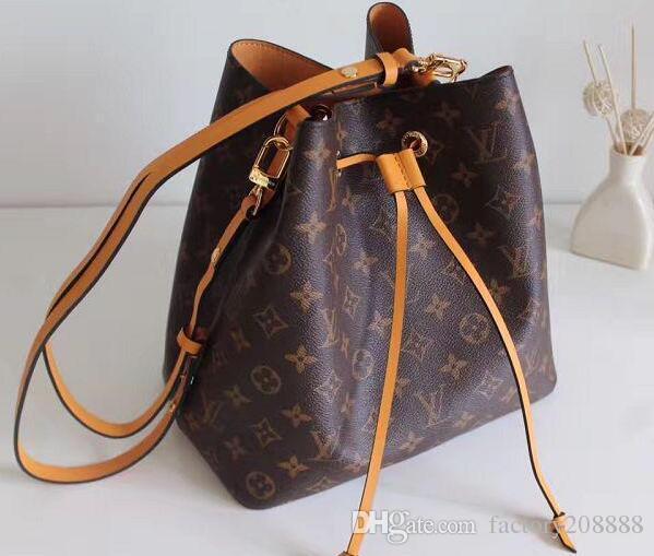 bd7ff21df22e 2019 NEONOE Shoulder Bags Noé Leather Bucket Bag Women Famous Brands  Designer Handbags High Quality Flower Printing Crossbody Bag Purse TWIST  From ...