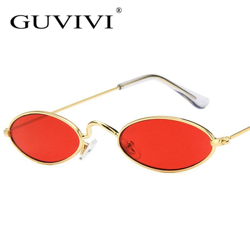 Compre 2018 New Vintage Pequeno Oval Óculos De Sol Das Mulheres Dos Homens  Da Marca Designer Shades Feminino Red Lente Clara Óculos De Sol Retro  Homens De ... dac55ac72c