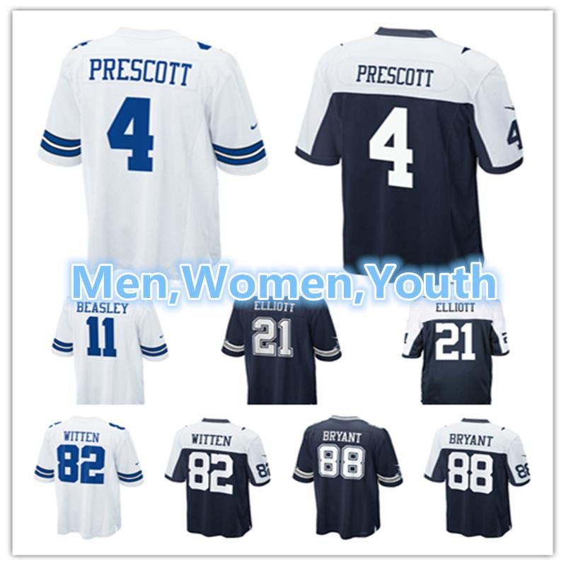 c7f60cb0c7e Men Women Youth Dallas Cowboys Jerseys 4 Dak Prescott Jerseys 21 ...