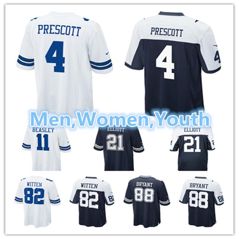b1efd5147 Men Women Youth Dallas Cowboys Jerseys 4 Dak Prescott Jerseys 21 ...