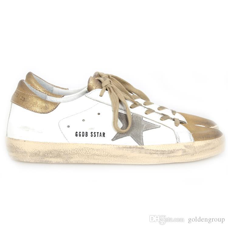 808df17353ef Italy Brand Goose Shoes Superstar Gold White Suede Star In Pelle E ...