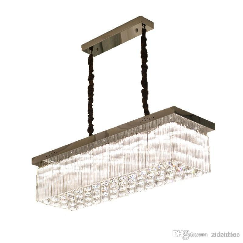 Contemporary Luxury Rectangular Linear Island Dining Room: Luxury Modern Crystal Chandelier For Dining Room Rectangle