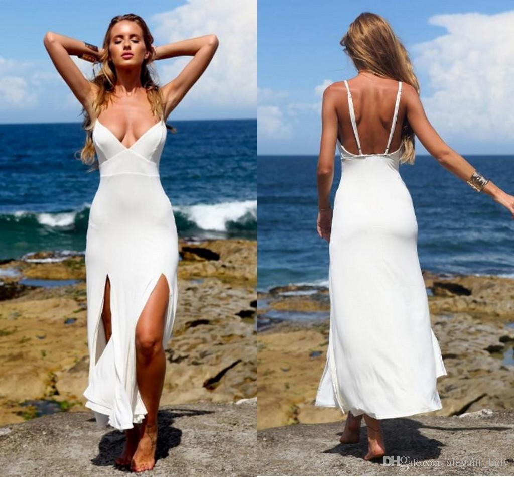 Sexy Short Beach Wedding Dress