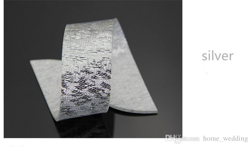 Silver Gold Acrylic Napkin Rings Fashion Simple Wedding Banquet ... 44f3ff496851