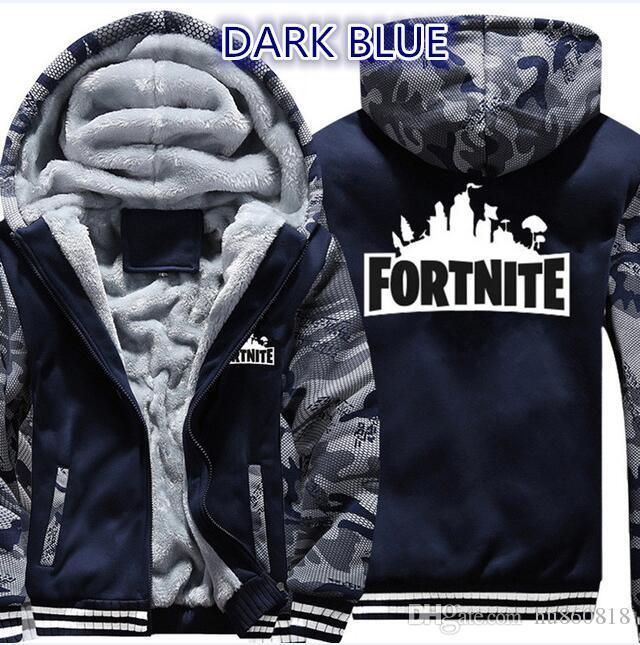 9028da11c 2019 2018 Super Warm Fortnite Hoodies Sweatshirt For Men Women Winter Thick  Fleece Jacket Casual Zip Up Hoody Adult Fortnite Coat Hoodie From Hu860818,  ...