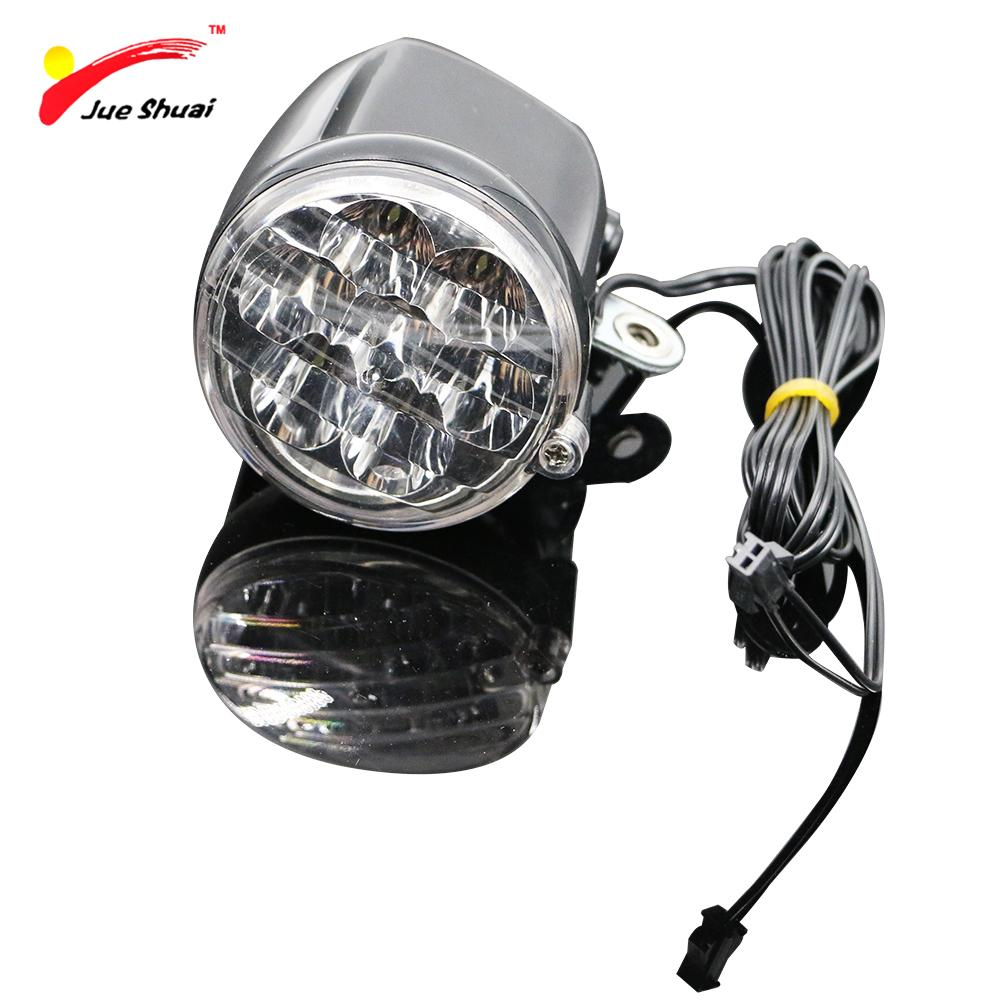 2018 js 7 led electric bike bicycle front light head lamp front fork