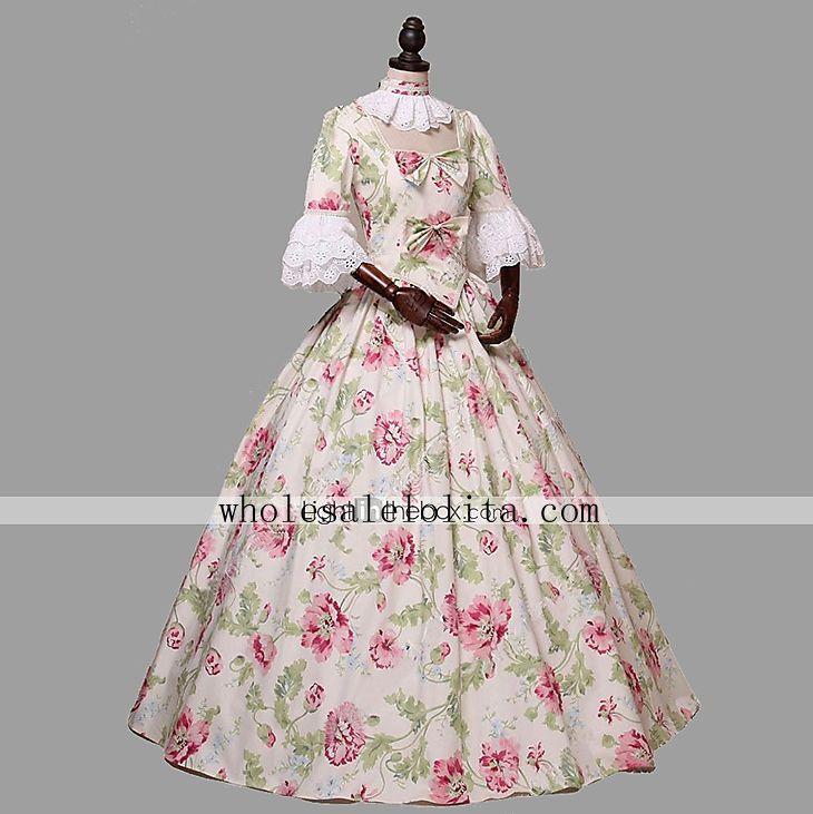 2018 Renaissance Fair Colonial Princess Dress Alice In Wonderland ...