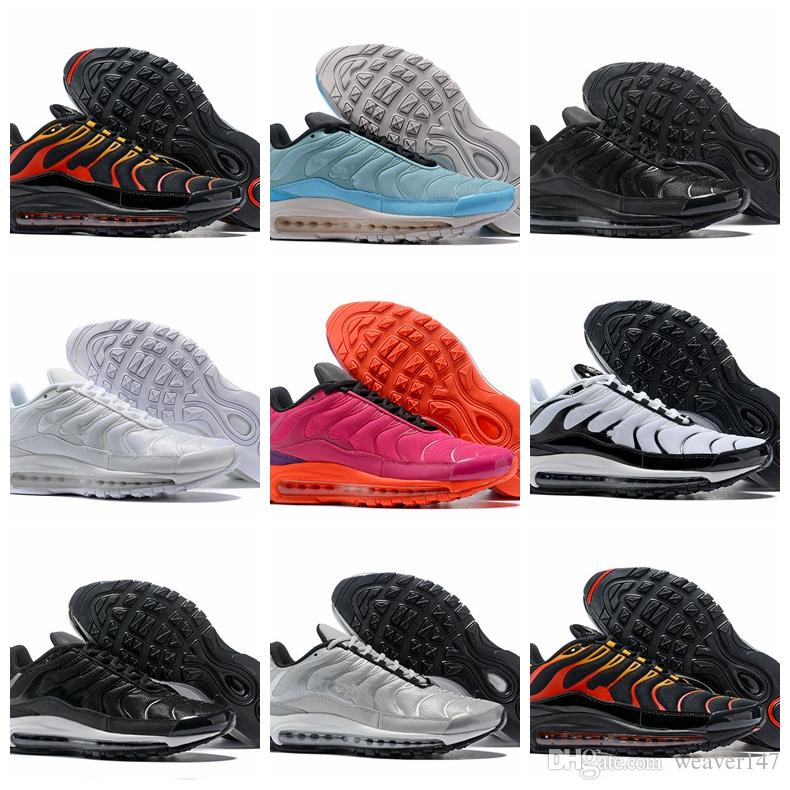 cdfdb5f6971 Compre 2018 Nueva Llegada 97 Puls Tn Rosa Naranja Plata Deportes Zapatillas  De Deporte De Alta Calidad Chaussures Mens Entrenadores 97s Diseñador  Zapatillas ...