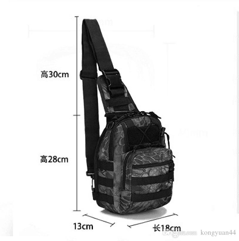 Borse sportive all'aperto 600D Single Shoulder Crossbody Camouflage Camping Escursionismo Sacchetto tattico Zaino Utility Camping Travel