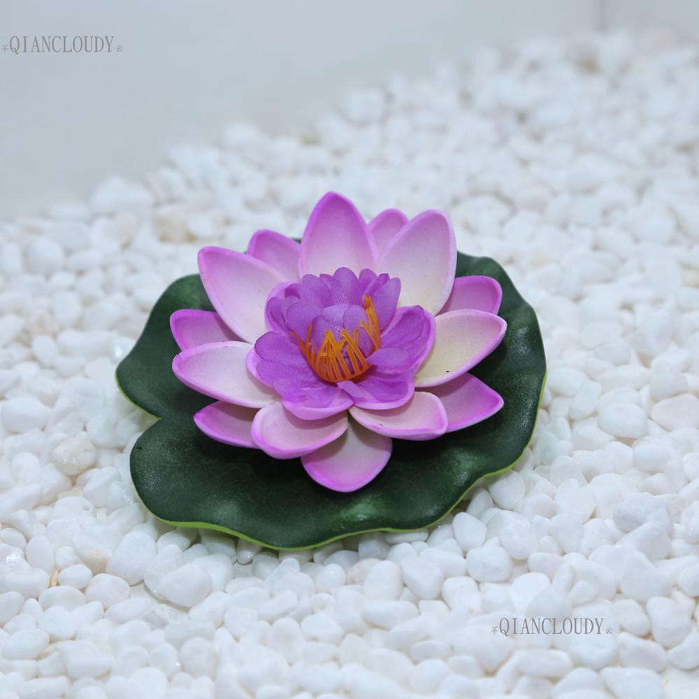 2018 Loating Flowers Wedding Light Purple Artificial Fake Foam Lotus