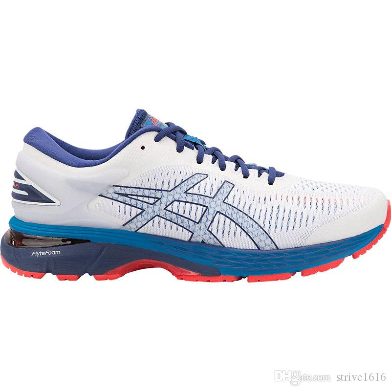 9ad738a1a3b Designer Asics GEL-KAYANO 25 Men Running Shoes Originals Blue White Black  Top Quality Athletics Walking Sneakers Trainer US 7.5-11 Baketball Shoes  Men Shoes ...