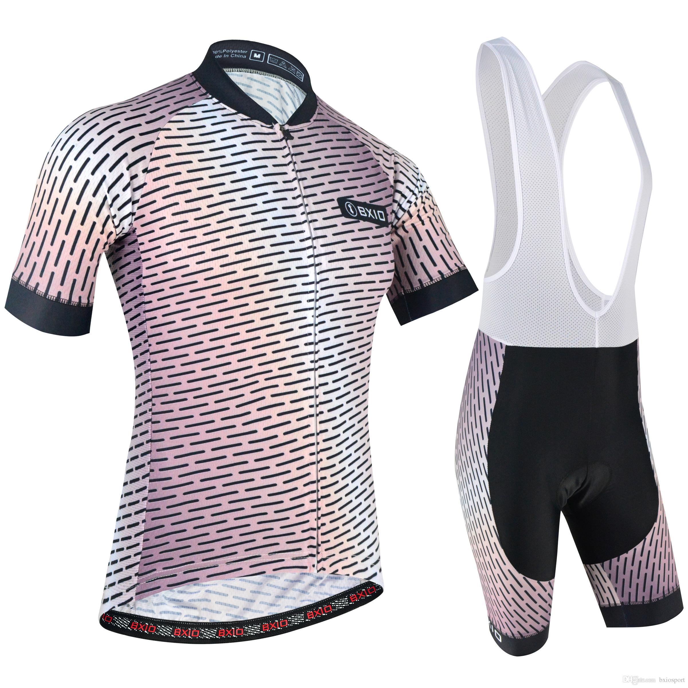 c0048b4cc 2018 BXIO Brand Cycling Jerseys Front And Back Bland Golden Wire Mesh Bikes  Clothes Pineapple Breathable Mesh Two Sides Cycling Set BX 172 Mountain  Bike ...