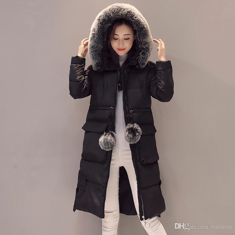 2019 KUYOMENS Fashion Snow Wear Large Fur Collar Ladies Coats 2017 Winter  Coat Women Parka Long Thick Slim Womens Coats And Jackets From Vaiwen 40b57e1ffae5