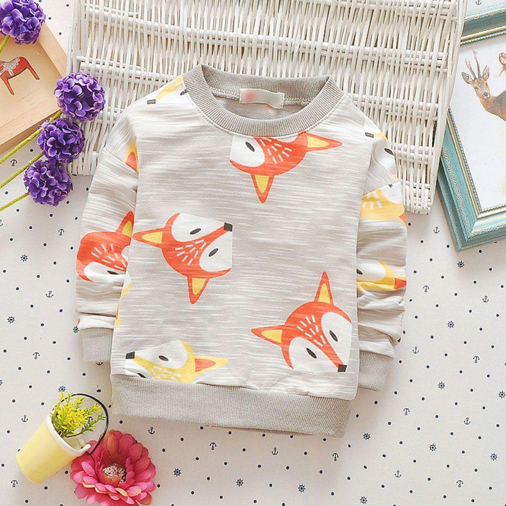 Babyinstar Boys Girls Hoodies & Sweatshirt 2017 Autumn Girl Coat Cartoon Fox Outwear Baby Children Clothing kids jacket