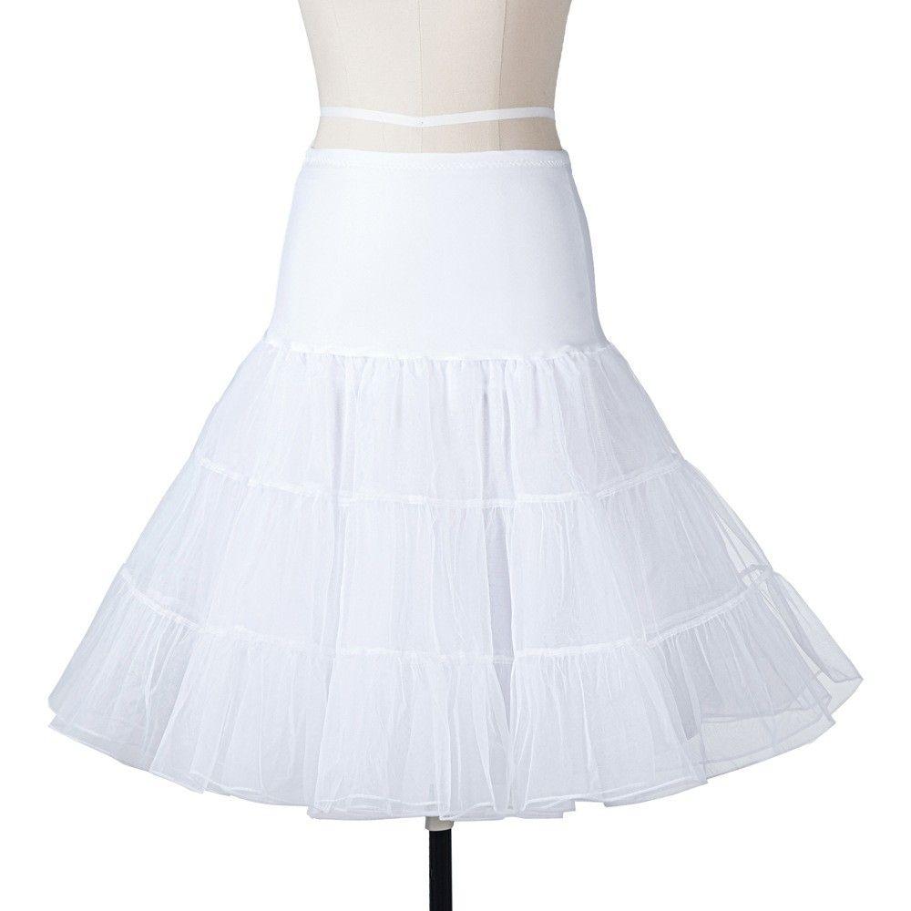 Vendita calda breve Sottoveste Accessori abito da sposa Sottoveste in tulle nuziale abito da sposa corto sottogonna al ginocchio