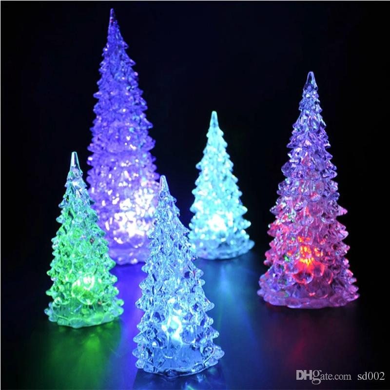 Plastic Acrylic Night Lamps Discoloration Christmas Tree Shape LED Light  Durable For Home Decor Lights Fashion 1 58zj B Cheap Fun Gifts Cheap Funny  Birthday ... - Plastic Acrylic Night Lamps Discoloration Christmas Tree Shape LED
