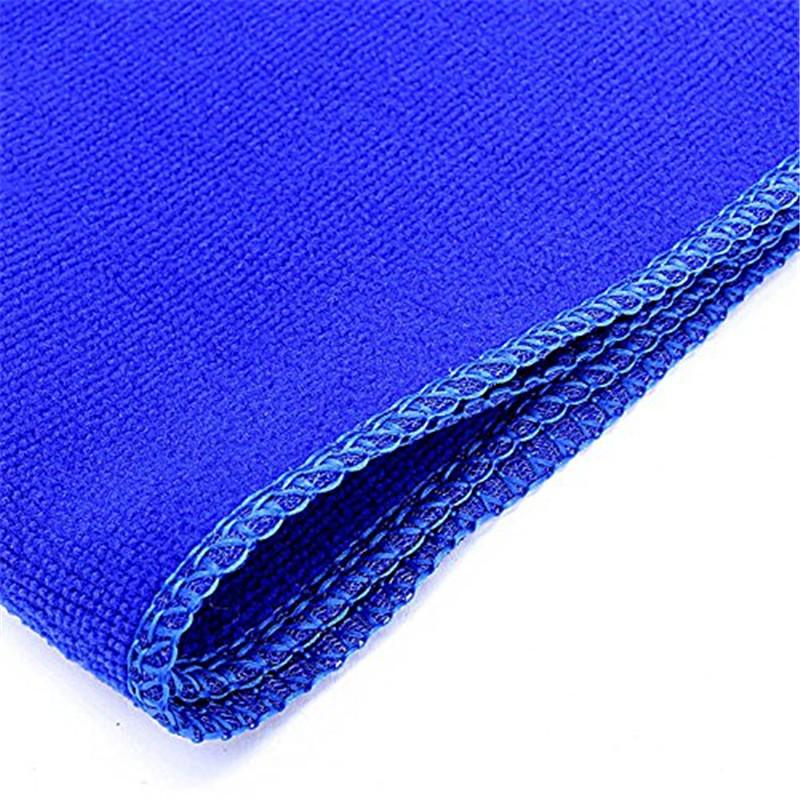 30*70cm Blue Soft Towel Car Cleaning Microfiber Absorbent Towel Clean Wax Valeted Washing Cloth