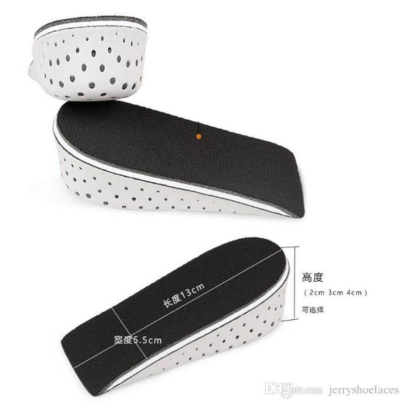 3 크기 EVA 스텔스 조정 가능한 증가 된 인솔 남성용 여성용 신발 패드 높이 증가 깔창 에어 쿠션 리프트 패드 힐