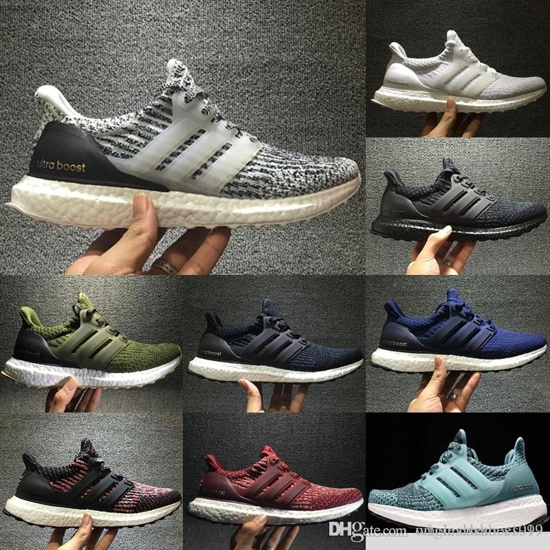 86213cf95 2018 2017 Ultra Boost 3.0 Triple Black White Primeknit Oreo Cny Blue ...