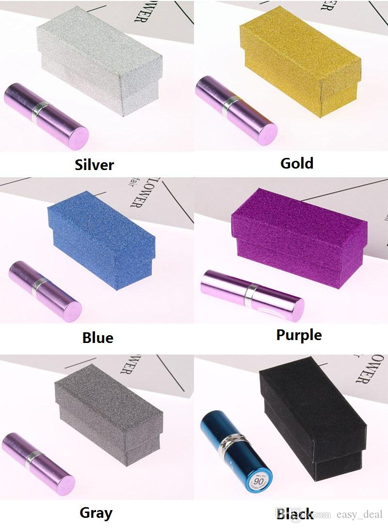 Brillo Colorido Caja de Cartón Lápiz Labial Botella de Perfume Cosmética Caja de Embalaje Caja de Embalaje de Aceite Esencial Caja QW6998