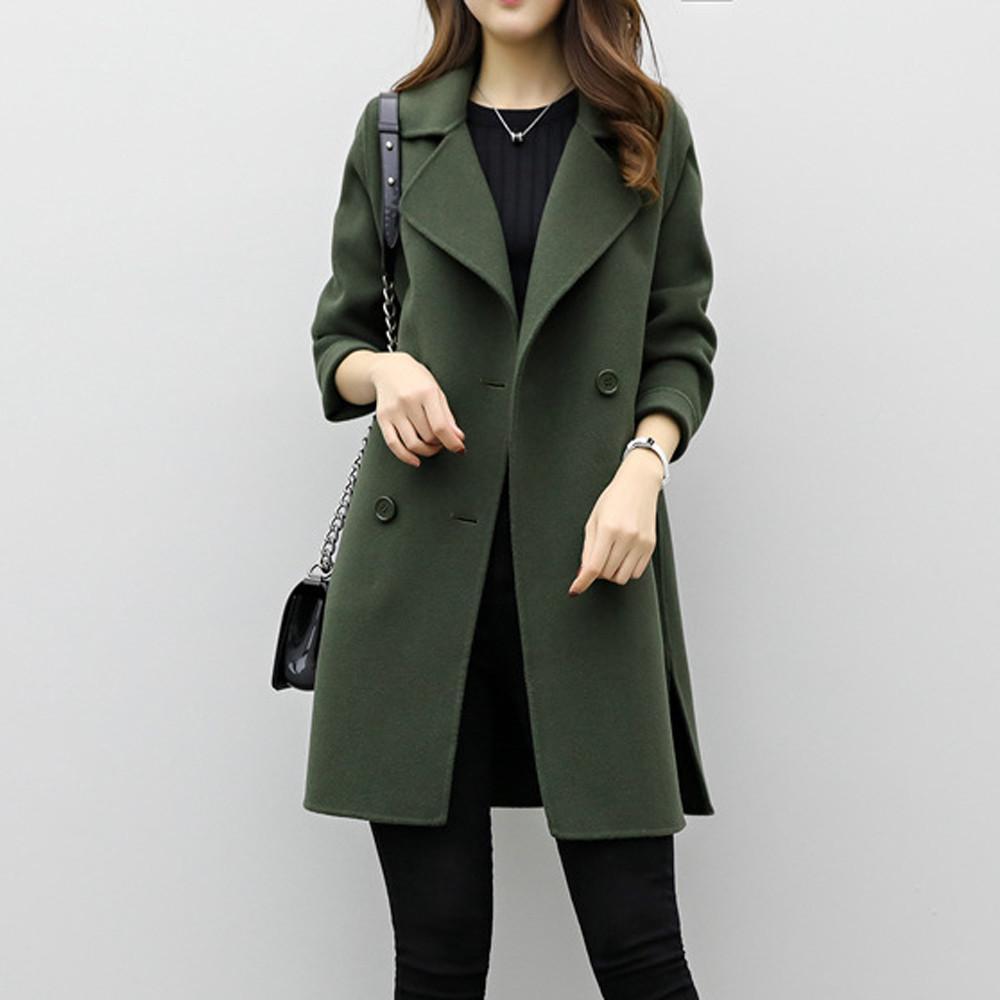 Acheter 2019 NOUVELLES Femmes Veste D hiver Dames De Mode Élégant Chaud  Manteau En Laine Cachemire Comme Épais Solide Parka Cardigan Slim Manteau  Plus La ... c76acc0162d