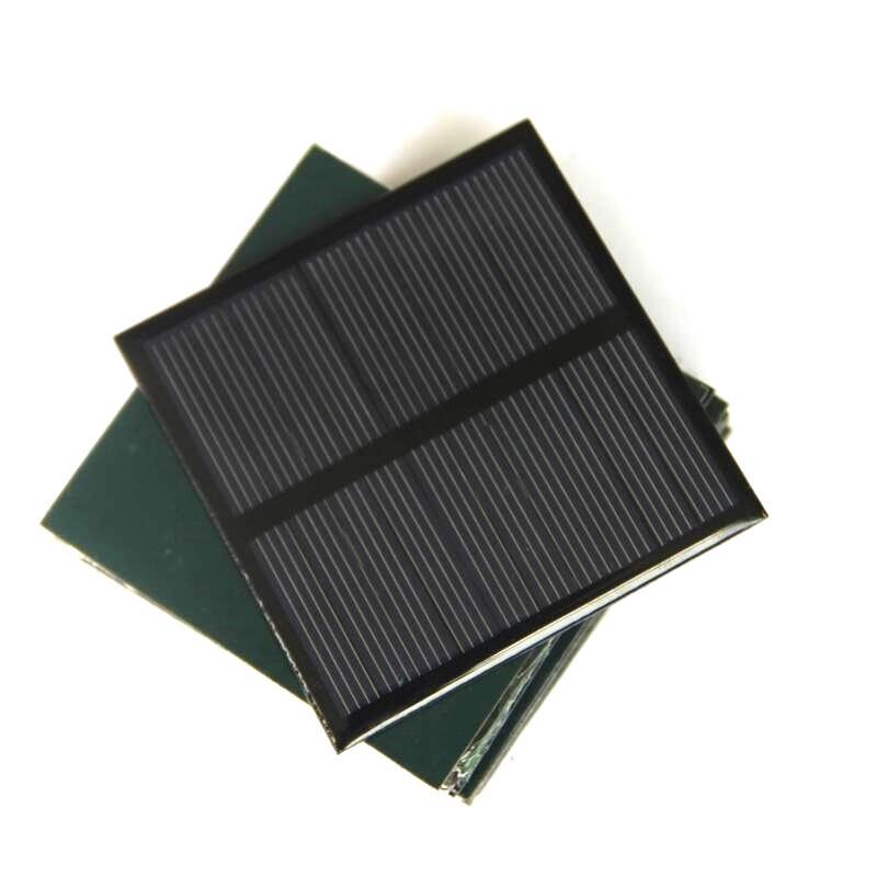 BUHESHUI 0.7W 5V 미니 태양 전지 패널 다결정 태양 전지 소형 전원 3.7V 배터리 충전기 주도 라이트 연구 70 * 70MM