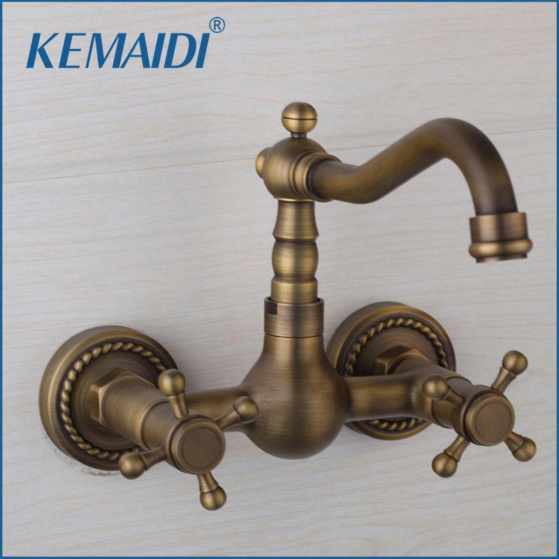 2018 Kemaidi Bathroom Kitchen Basin Sink Taps Single Hole Faucets