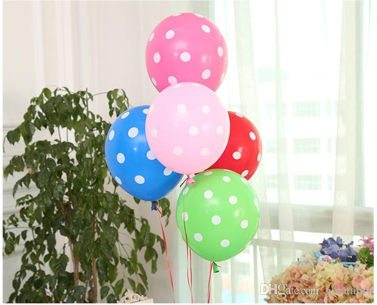 12inch 2.8g balloons polka dots printing candy color kids birthday party decoration balloon wedding party room decorations