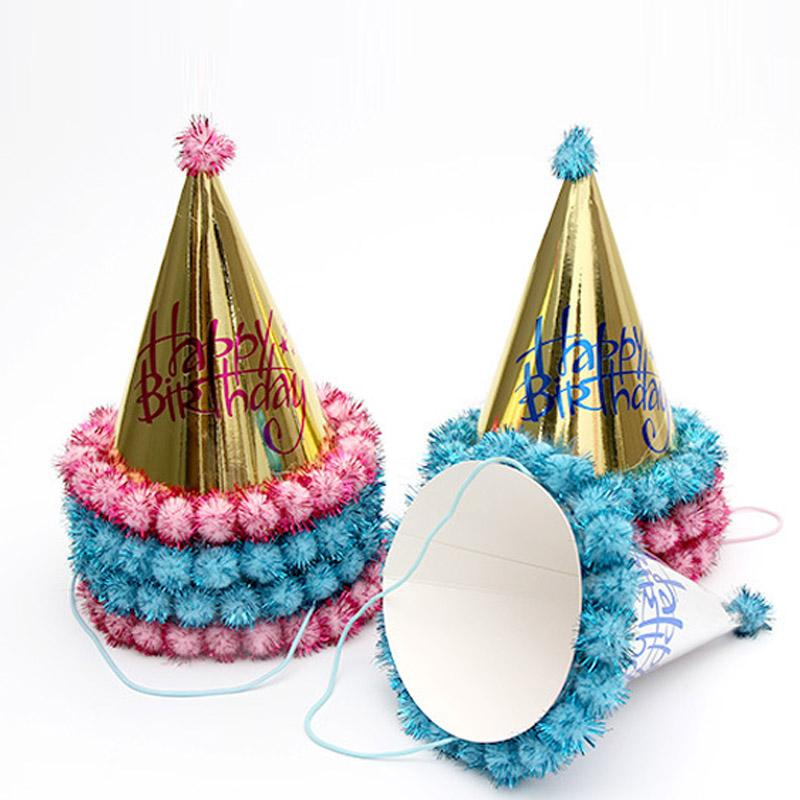 Party Decor Reflection Birthday Child Hats Kids Christmas Decoration Gold Red Blue Merry Boy First Hat Boys 1st