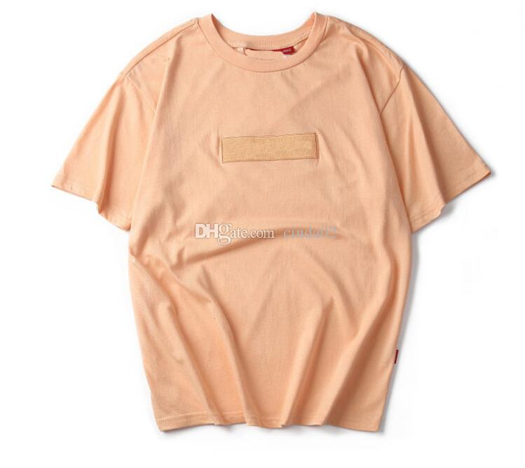 Crew Neck Pink T-shirt Summer New Men Women Tee Hip Hop Casual T-shirt