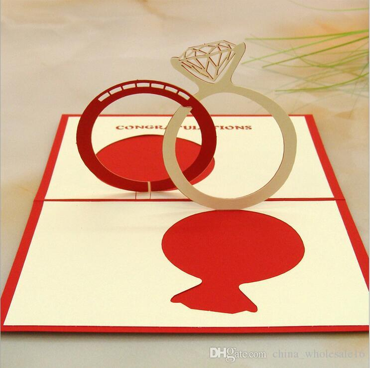 Wholesale Valentines Day Gift Love in the Hand 3D Pop up Greeting Card Postcard Matching Envelope Laser Cut Handmade Birthday Post Card