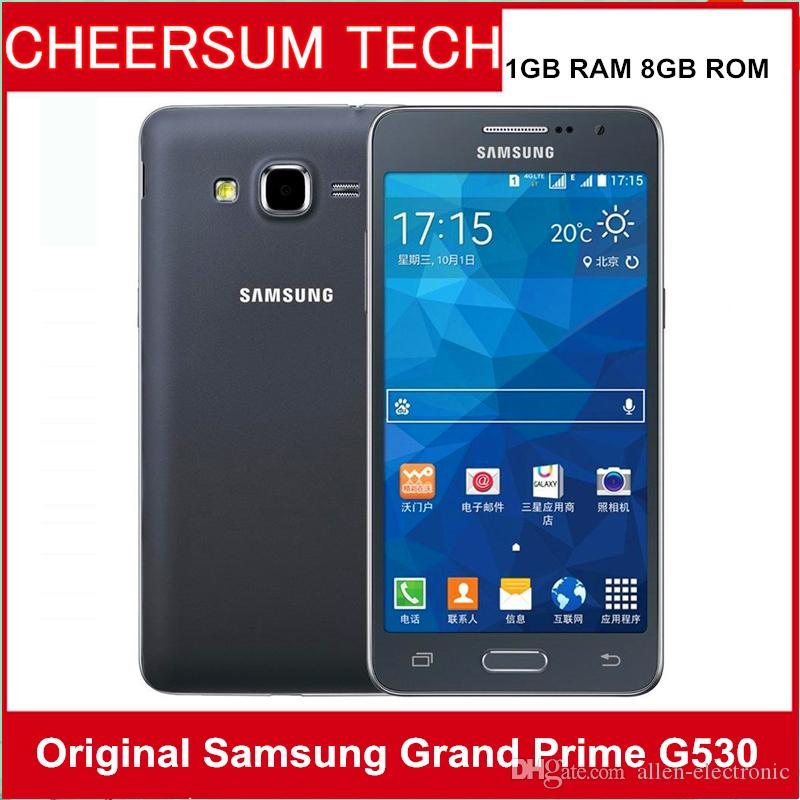 4c3b6d43ee8 Original Samsung Galaxy Grand Prime G530H G530A Ouad Core Dual Sim  desbloqueado teléfono celular pantalla táctil de 5.0 pulgadas restaurado  teléfono celular