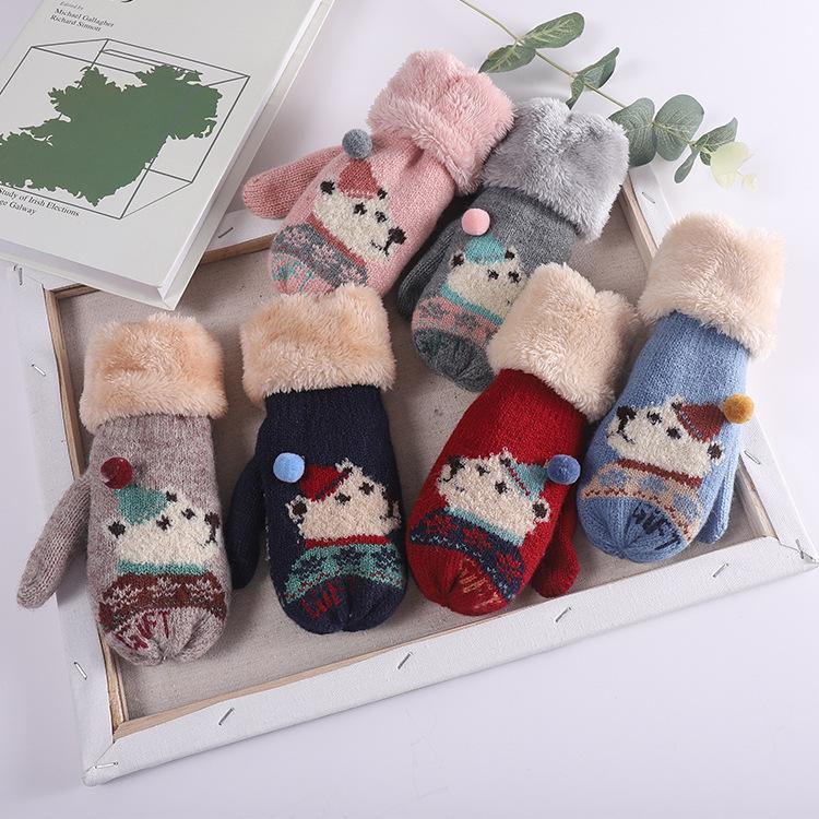 9ebe80646f95 Cute Bear Mittens For Kids Girls Boys Warm Winter Bear Gloves Baby ...