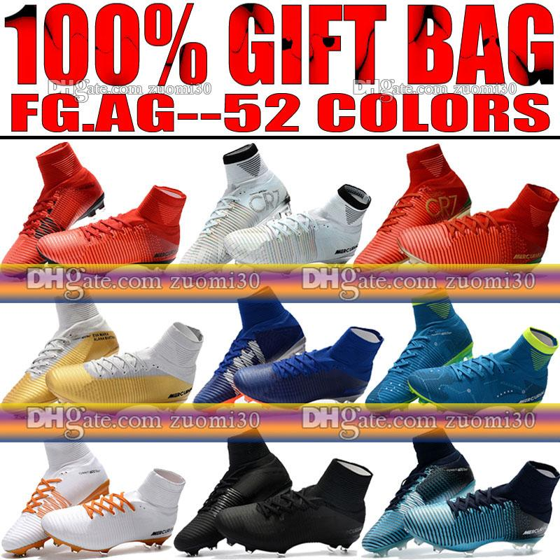 Original New Soccer Cleats Turf High Ankle MercurialX Proximo FG Soccer Shoes Ronaldo Mercurial Superfly CR7 Neymar Football Boots cheap view cheap sale good selling D9fD8C1i