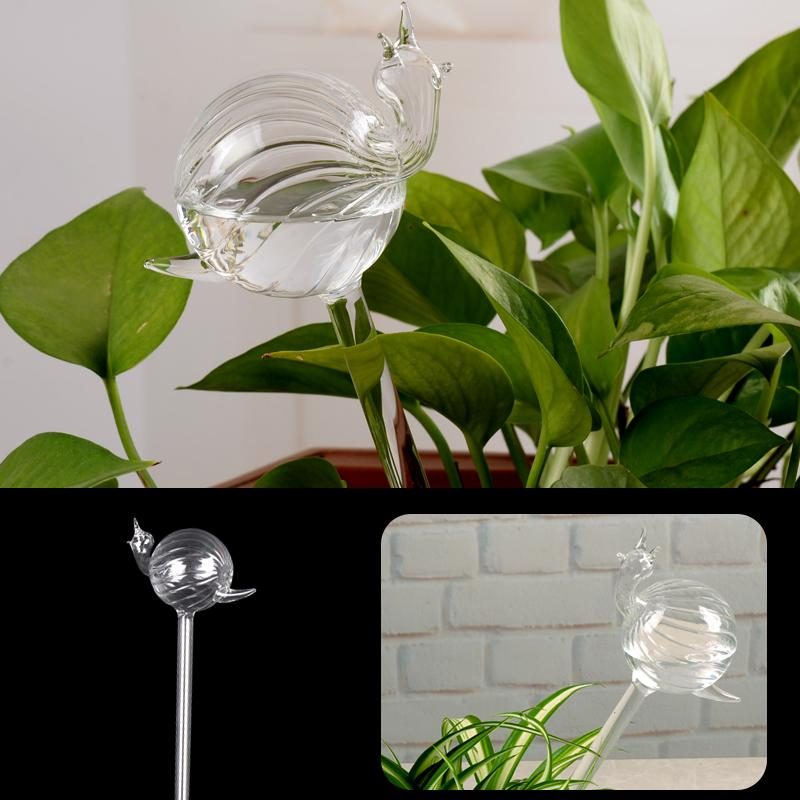 Best Snail Glass Watering Vase Terrarium Container Home Supply Gift